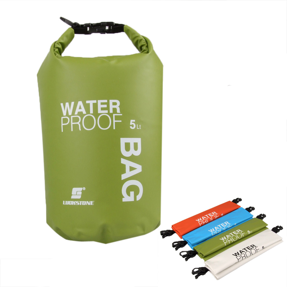 4 Colors! 5L Ultralight Outdoor Waterproof Rafting Dry Bag Camping Travel Kit Equipment Canoe Kayak Swimming Bags Storage(China (Mainland))