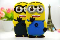 For Samsung Galaxy Grand 2 Duos G7102 G7106 G7108 G7109 Cartoon Despicable Me 2 Minions Cover Skin silicon cases  FA014