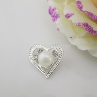 (OY434 22mm)100pcs Beautiful Ivory Pearl Rhinestone Button Shank For Wedding Dress Costume Craft