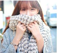 2015 New Fashion Knitted Scarf  Patch Women Winter Shawl Oversized Collar Retail 1 Pcs/lot