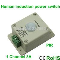 2015 6pcs/lot Led Pir Switch Light Human Body Induction Switch,dc12v/96w, Dc24v/192w,led Infrared Detection Sensor Controller