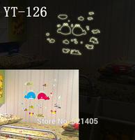YT-126 Luminous stickers Wall stickers Switch sticker Free Shipping