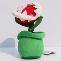 "5pcs/lot 8""20cm Super Mario Piranha with Flowerpot Stuffed Animals Plush Toys Gift For Girl"