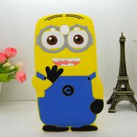 For Samsung Galaxy Grand Duos i9082 9082  Cartoon Soft Silicon Rubber Back Cover Despicable Me Yellow Minion Case FA014