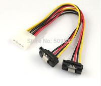 10pcs/lot 20cm splitter sata 15pin to 4pin cable 4pin IDE/ to 15pin sata cables 90degree free shipping