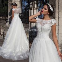 Winter Women Wedding Dress Plus Size Lace A Line Bridal Gowns 2015 Astonishing Vestidos de Casamento Flowers Beading W3794