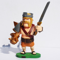Free Shipping Clash of Clans Archer Barbarian King PVC Action Figure Collectible Toy 15cm In New Box for Children