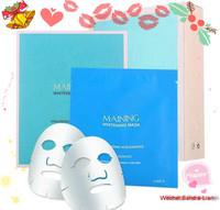 6PCS/BOX-MAINING Mask Hyaluronic Acid Liquid + Rose Essential Oil Hydrating Moisturizing Whitening Tony Moly Face Care MACKA
