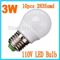 5pcs lot e14 e27 b22 led light bulb 110v 3w 2835 smd Led Bulb White Warm White Energy Saving Light