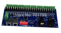 Common cathode DMX constant voltage decoder;DC12-24V input;24CH*1A output(R+G+B+V-)