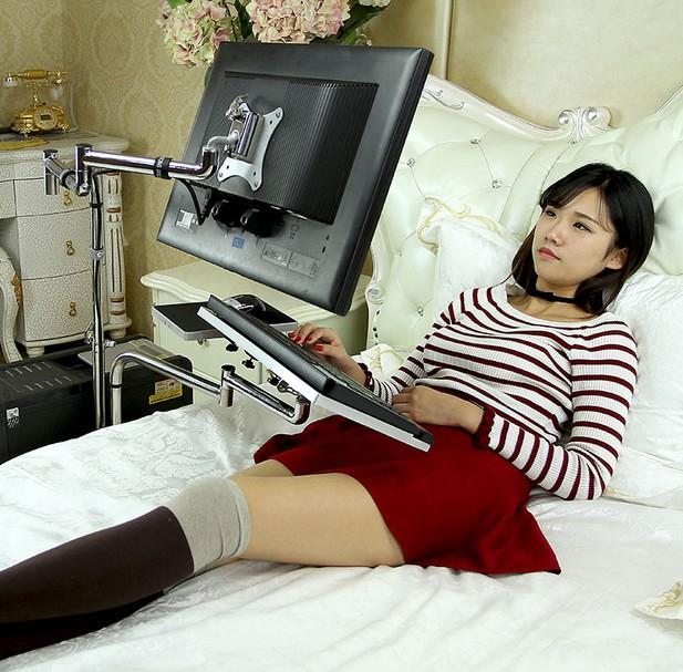 Universal Adjustable Desktop Computer Laptop Bed Table Deluxe Multifunctional Lapdesk Bracket Bedside Mount Holder Folding Table(China (Mainland))