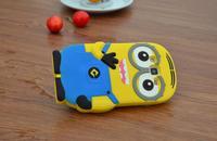 For Samsung Galaxy Express 2 / Win Pro G3812 Cute Cartoon Soft Silicon Rubber Back Cover Despicable Me Case FA014