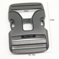 Free Shipping 100pcs per lot,40mm double fabric Plastic side release buckle,wholesale bag accessories pet buckles