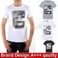 Famous men's clothing summer top tees M~XXL men t-shirt brand Round neck men shirt short sleeve fashion 2014 tshirts casual