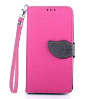 Luxury Leaf Design Flip Leather Case for LG Optimus G3 D850 D855 Card Holder Wallet Cover Case Capa Para for LG G3 Cases Lanyard