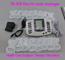 16 almofadas de eletrodo TENS EMS MACHINE / unidade de dezenas / estimulador muscular eletrônico de pulso massager / elétrica / perda de peso emagrecimento massagem(China (Mainland))