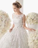 New Spaghetti Straps Wedding Dress 2014 Ball Gown With Lace Sleeveless Vestido De Noiva Custom Made
