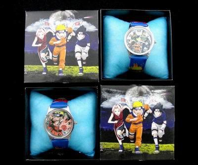 1Pcs/Lot Hot Sale Japanese Anime Naruto Watch Gift Set for Boys Girls JK-805(China (Mainland))