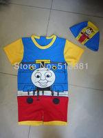 Free Shipping 5pcs/lot Cool Thomas Swimwear One-Piece Swimming Suits for Boy Kids Swimwear GL-010