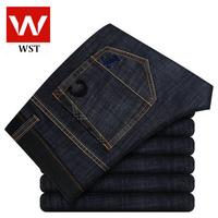 New winter men's business casual jeans / straight denim long trousers Korean tidal 006