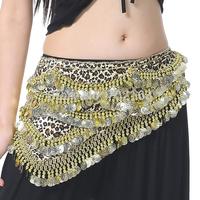 Belly Dance Leopard Costume Hip Scarf Dancing Belt Skirt