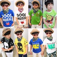 Cotton 2015 summer children t-shirt child tops tees kids clothes boys blouse girls short sleeve t shirt  cartoon dyita