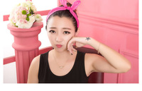 Wholesale Bulk Sweet Lady Girls Rabbit Ear Ribbon Chiffon Headband Hair Band Fashion Summer Beach hair jewelry