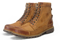 Discount Winter Business Casual Plus Fleece Warm Shoes Men High Shoes Male Boots 2 Colors