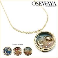 Osewaya moon gold powder pendant necklace 14aw-nk203