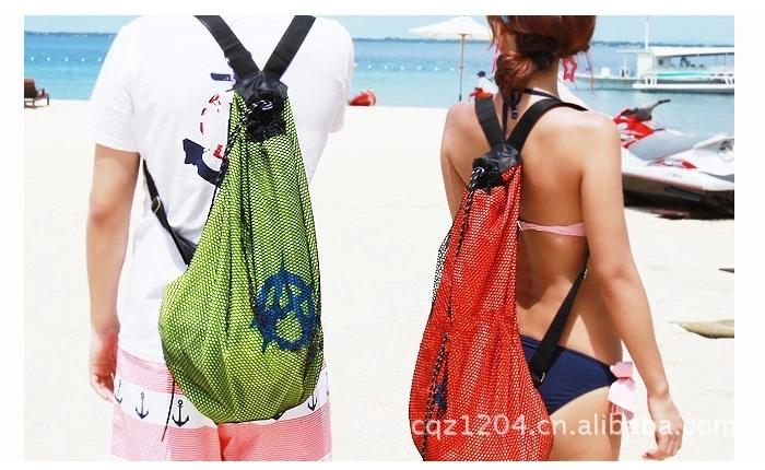 Snorkel Gear Bag Snorkeling Gear Travel Backpack Storage Bag Swim Mesh Bag