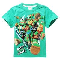 Boys T Shirt Teenage Mutant Ninja Turtle Boy Kid Character Fashion O-neck Short T-shirts Tshirt Boy Roupa Infantil
