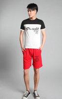 Hot 2015 Summer Cheap Knee Length Sports Trousers Hip Hop Fashion Print Women Men Cotton Beach Wear Running Shorts Plus Size XXL