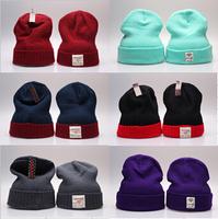 Hip hop diamond mint green wool hat knitted hat winter cold sets of headgear