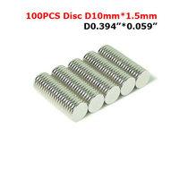 100Pcs/Lot Bulk Small Round NdFeB Neodymium Disc Magnets Dia 10mm x 1.5mm N35 Super Powerful Strong Rare Earth NdFeB Magnet