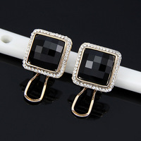 2014 Korean Hot sales Fashion  Elegant Generous Resin Square Earrings Statement Geometric jewelry cheap wholesale