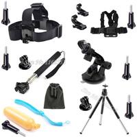Gopro accessories Chest/Head/Monopod Tripod Mounts Suction Cup Accessories Kit Gopro Hero4 Hero 4 3+