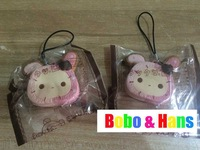 New Cute Circus rabbit squishy charm / mobile phone pendant strap / Wholesale