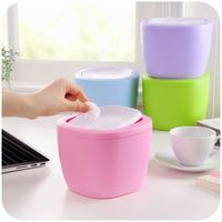 Free shipping 4 color fashion office waste storage barrels small debris bucket Flip mini desktop trash SN001