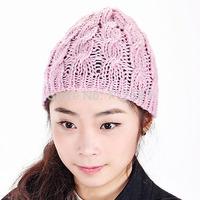 2014 fahsion Women Knit Winter Warm Crochet Hat Braided Baggy Beret Beanie Cap