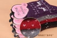 Free shipping winter warm socks female fashion socks cartoon  lovely girl socks woman thick short socks