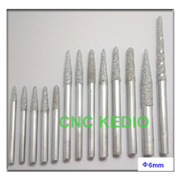 6mm straight shank  cnc cutting tools, stone engraving tools, carbide cutters cnc router bits