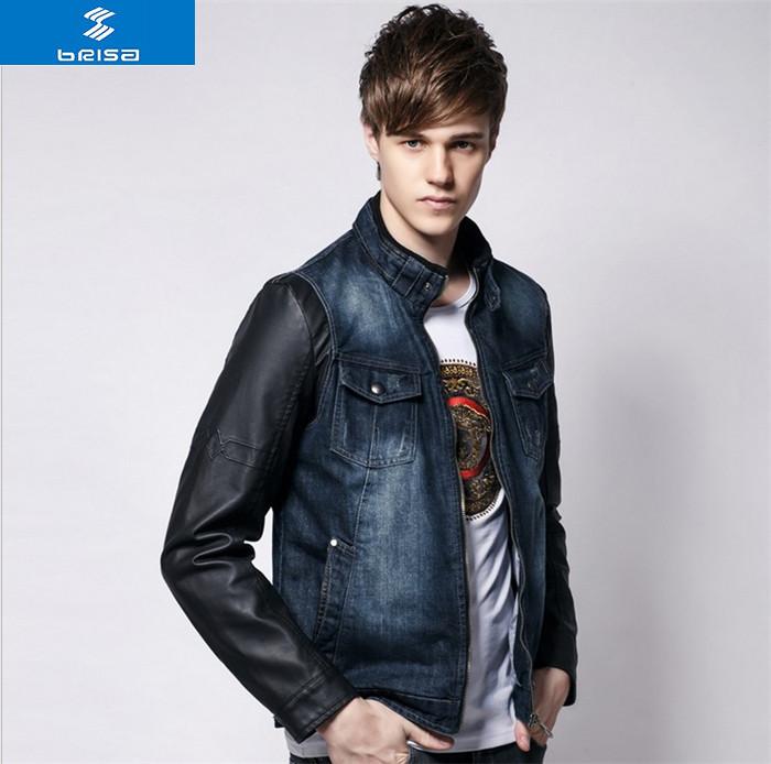 Купить Джинсовую Куртку Мужскую С Кожаными Рукавами