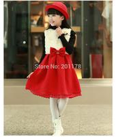 Kids girls winter dress children winter  woolen  Camisole  thickened with children winter