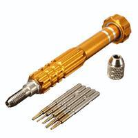 5in1 Screwdriver Bit Kit Repair Opening Tool Set For iPhone 4/4S/5/5C Golden