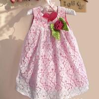 5pcs/lot, Girl Flower Lace Dress,  A-zef118