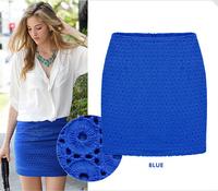Free shipping new fashion 2015 autumn new package hip skirt skirt wrap skirt step skirt waist hollow lace skirts S-XXL