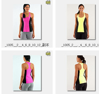 Wholesale fitness women's Luon Yoga Tops Colorful Solid Comfy Tees Sexy Lady luon Gym Workout Tanks Raceback Camis Vests