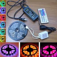 5050 RGB LED Strip Flexible Light Set 5M 150 LEDS 30LED/M Non-Waterproof IP20 44 Keys IR Remote Controller 12V 5A Power 50% off