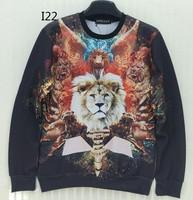 [Magic] Guardian Angel Lion 3d sweatshirt men animal sweatshirts casual hoodies o neck pullovers size S-XL I22 free shipping