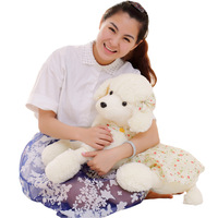 90cm Plush Toy Poodles Miss Dogs Poodle Pillow Cushion Girls' doll Ragdoll Birthday gifts for girls or children